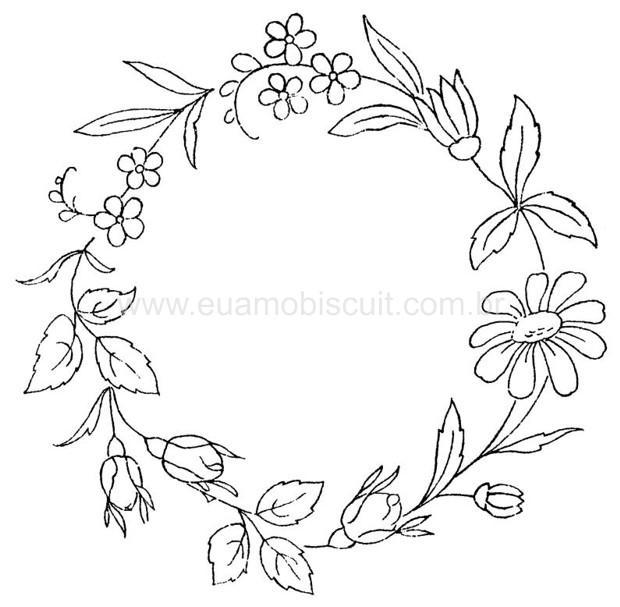ricsos florais para bordado livre