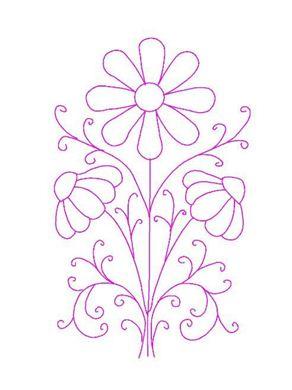 risco bordado flor