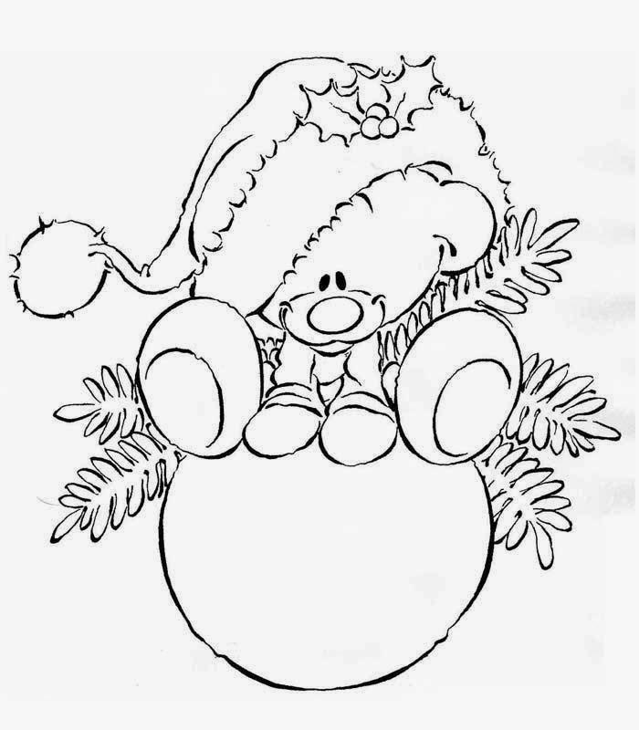 risco pintura em tecido natalino ursinho
