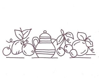 risco simples bordado para pano de prato