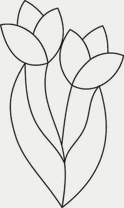 risco tulipa bordado livre