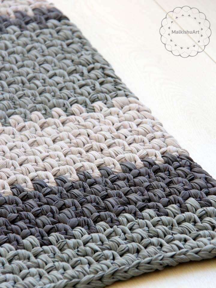 tapete croche retangular