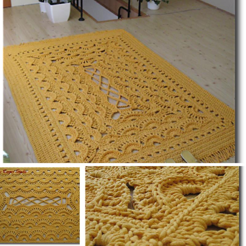 tapete de croche elaborado