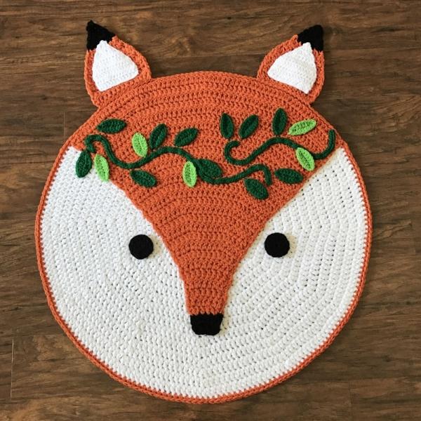 tapete de raposa croche allcrochetpatterns
