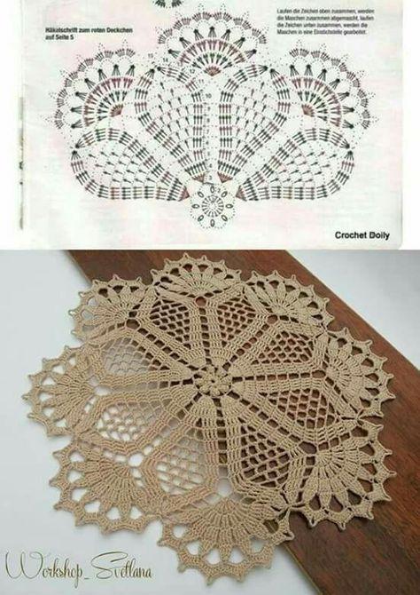toalhinha de mesa de croche com grafico