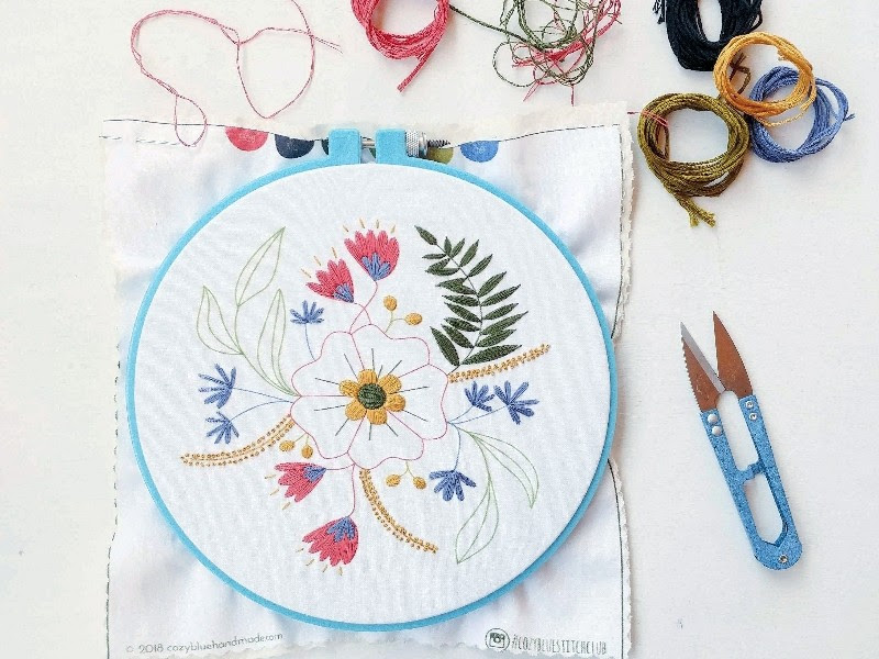 bordado livre floral