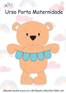 Porta maternidade de ursinho com molde de tecido artesanato (2)