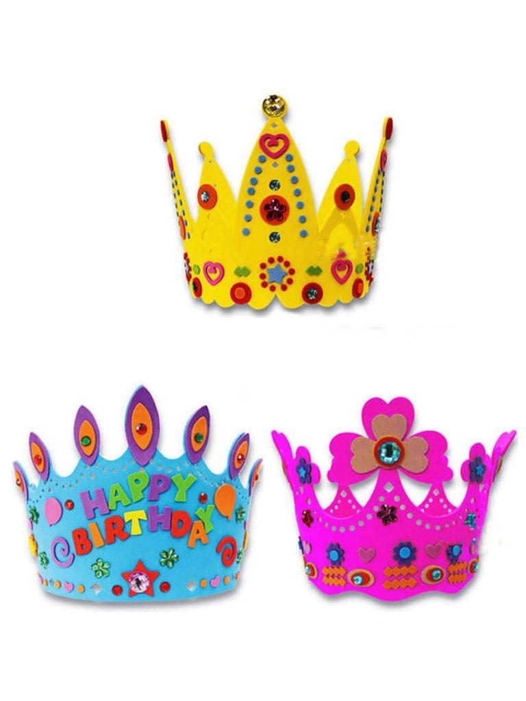 coroa de aniversario para crianças em eva