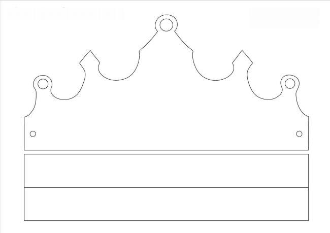 coroa de rei molde