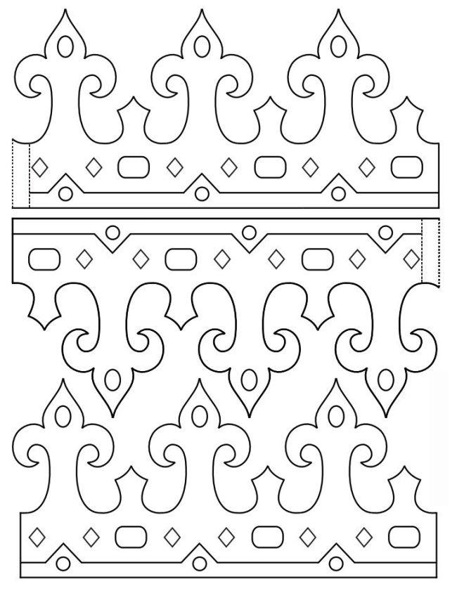coroa de rei para imprimir