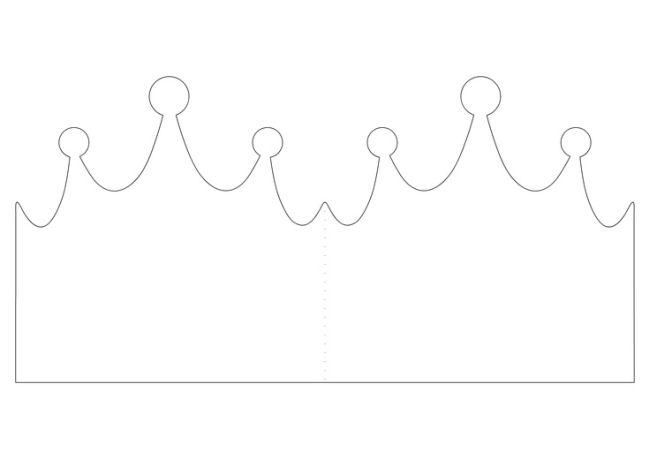 coroinha de principe molde