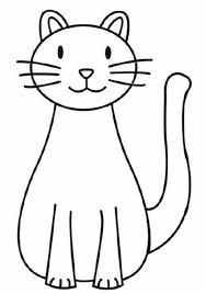 desenho facil gato para colorir