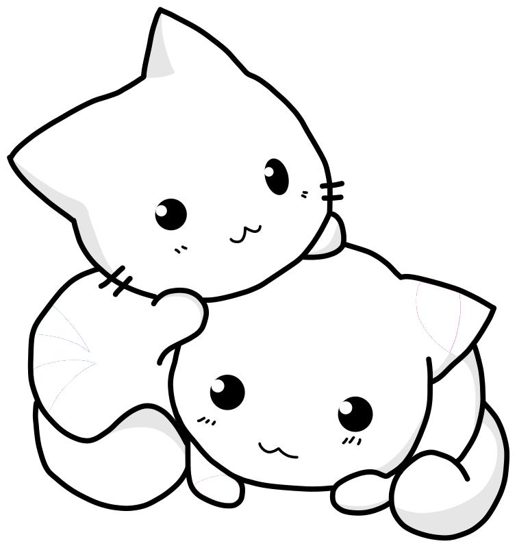 gatinhos fofos para colorir