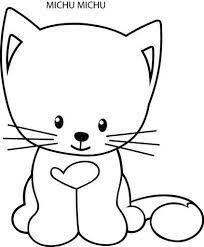 gato fofinho para colorir