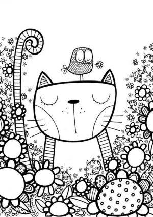 gato para colorir para adultos