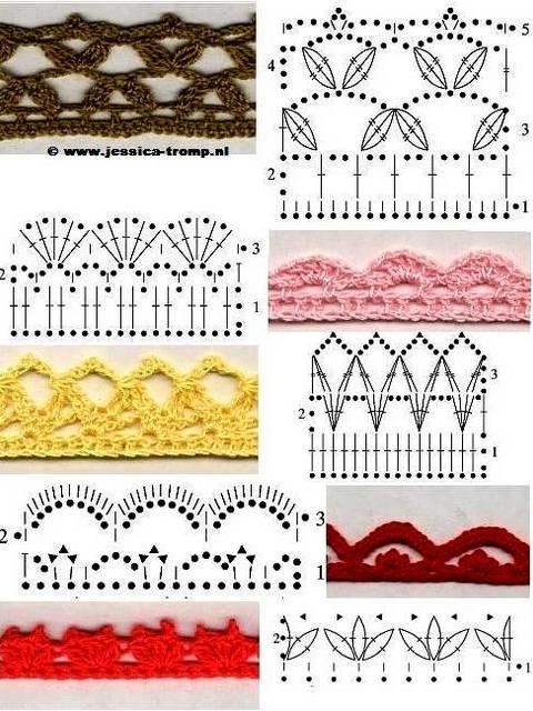 grafico de bico de croche para tapete e pano de prato