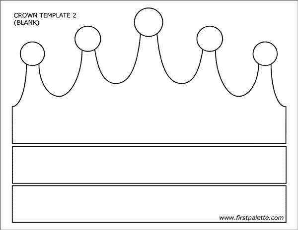 molde de coroa simples para imprimir