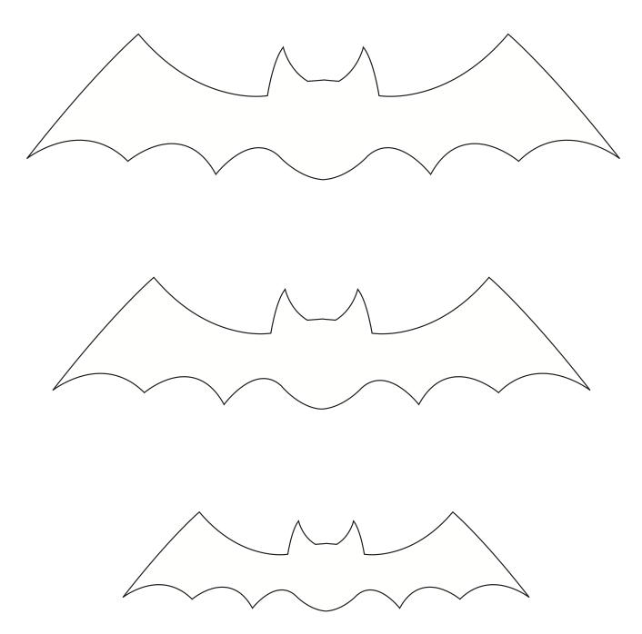 molde de morcego dia das bruxas imprimir