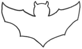molde de morcego dia das bruxas