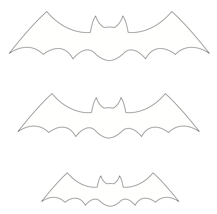 molde de morcego eva