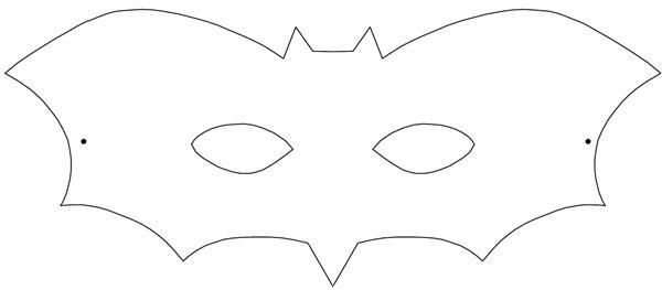 molde morcego mascara