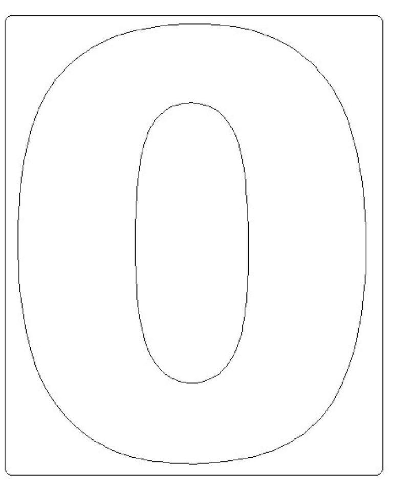 moldes de números grandes 0