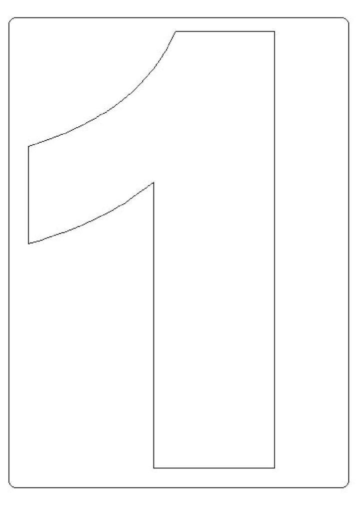 moldes de números grandes 1