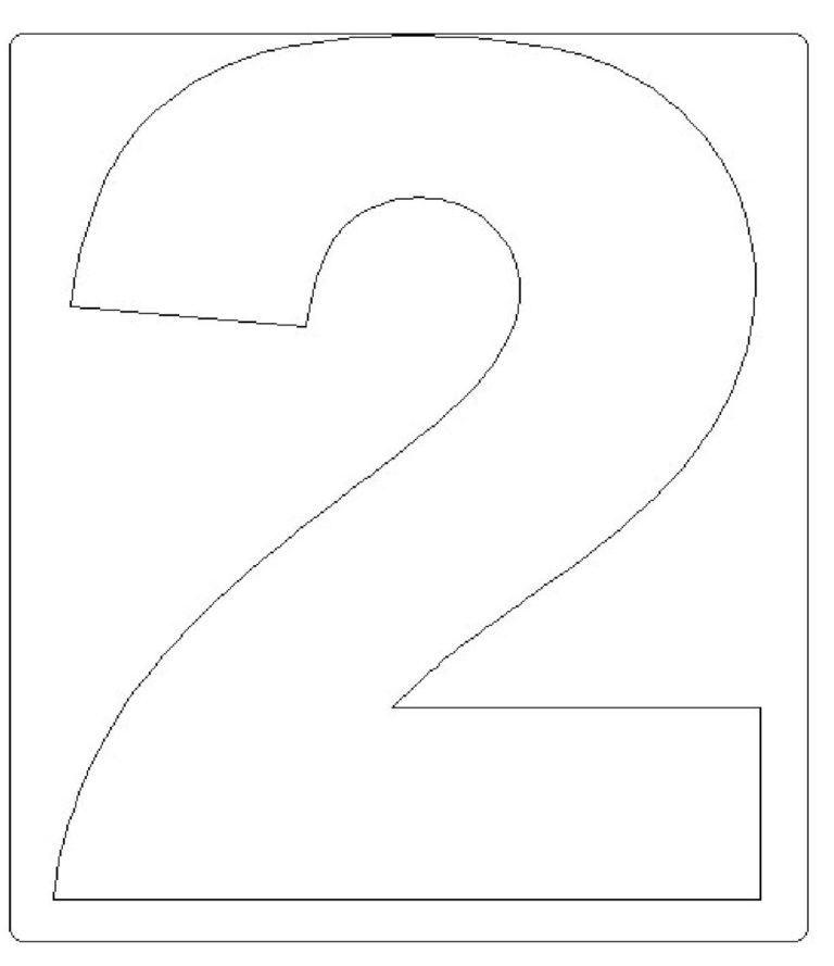 moldes de números grandes 2