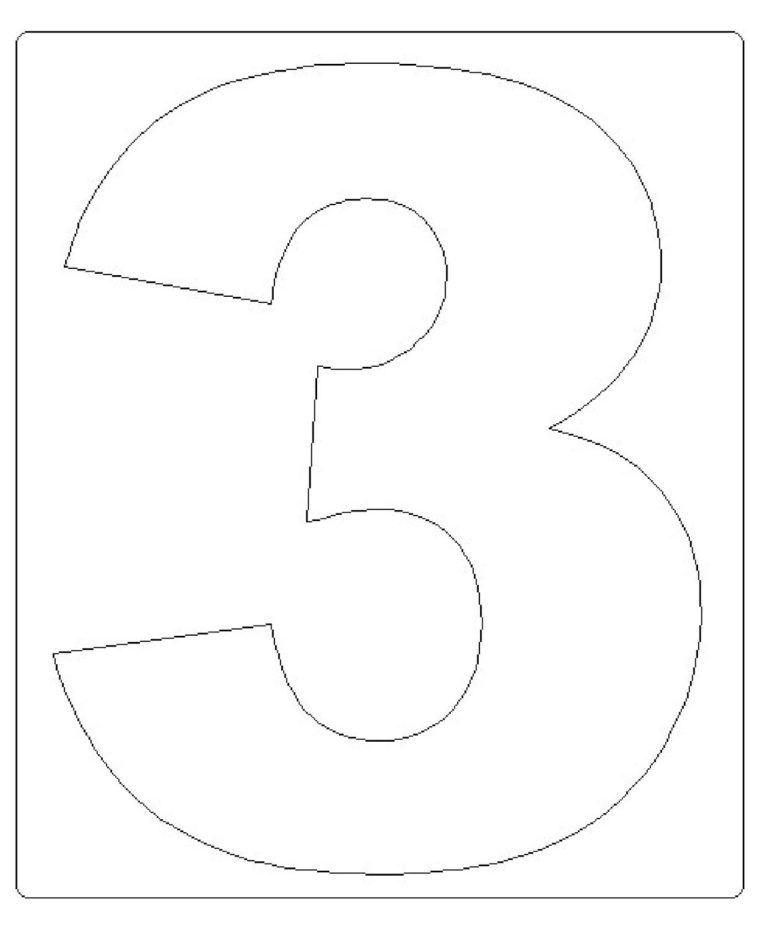 moldes de números grandes 3