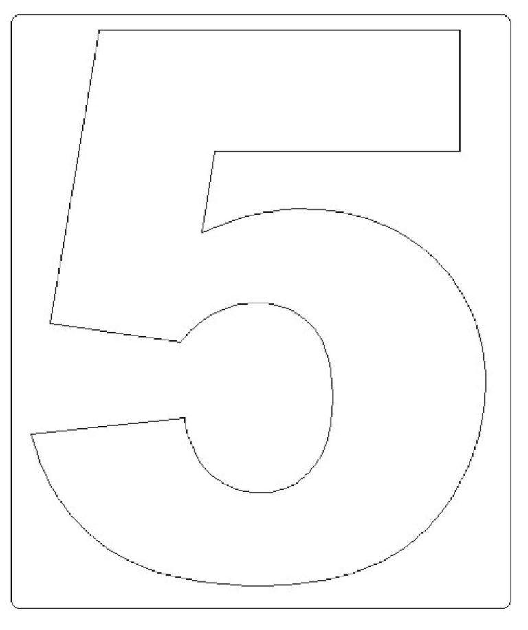moldes de números grandes 5