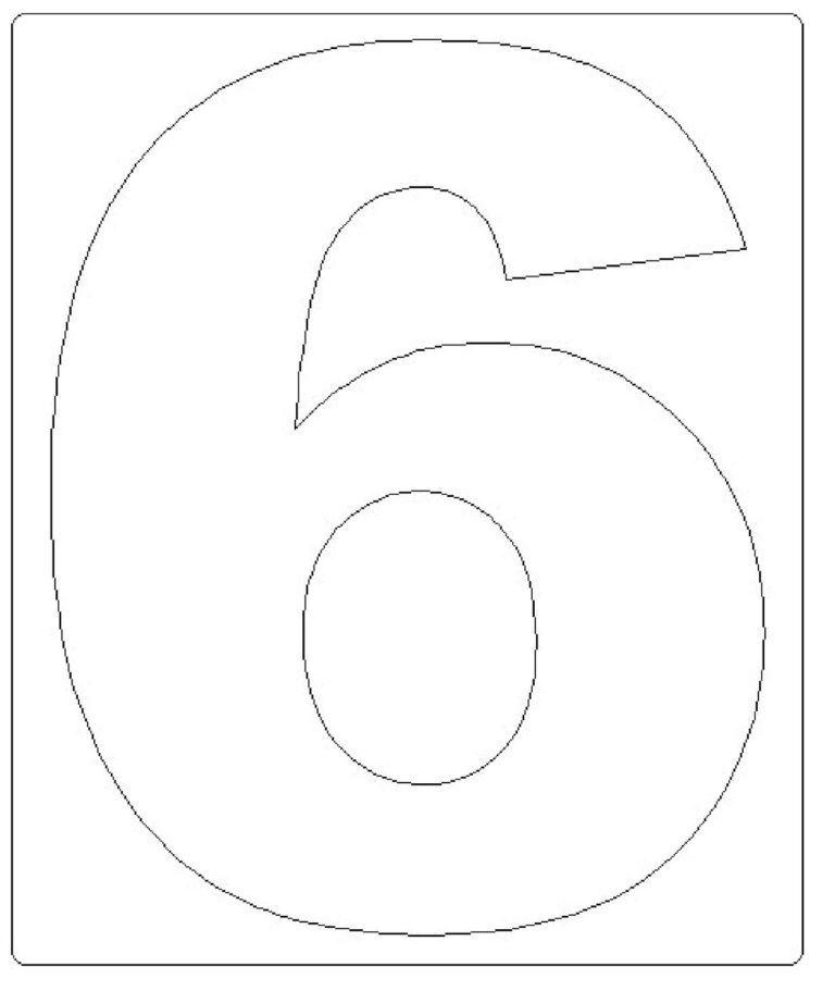 moldes de números grandes 6