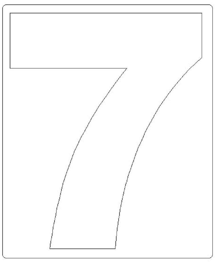 moldes de números grandes 7