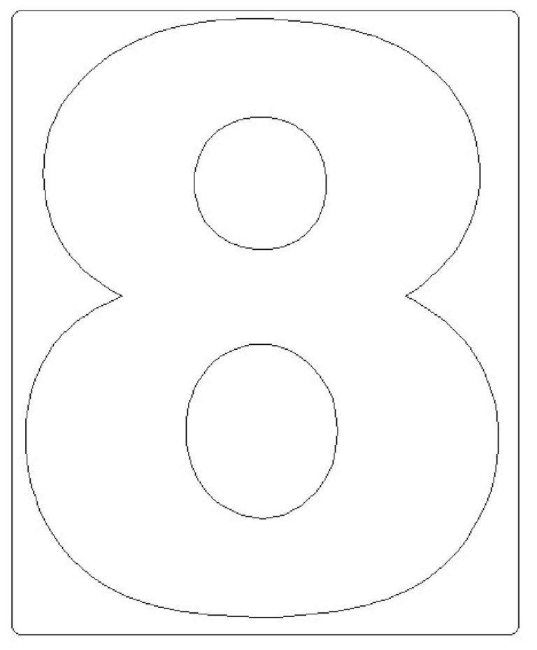 moldes de números grandes 8