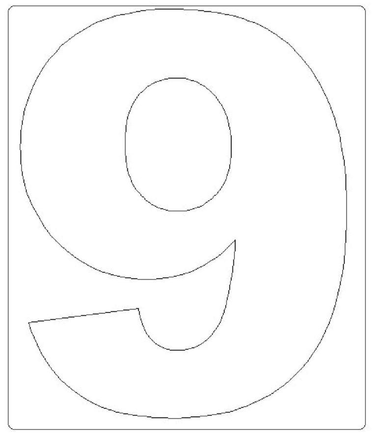 moldes de números grandes 9