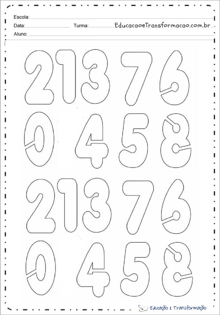 moldes de numeros pequenos para imprimir