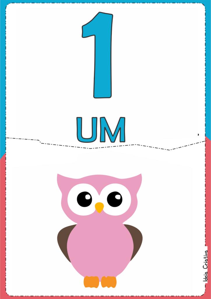 numerais ilustrados para atividade educativa 1