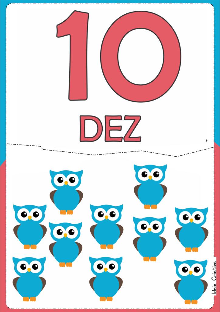 numerais ilustrados para atividade educativa 10