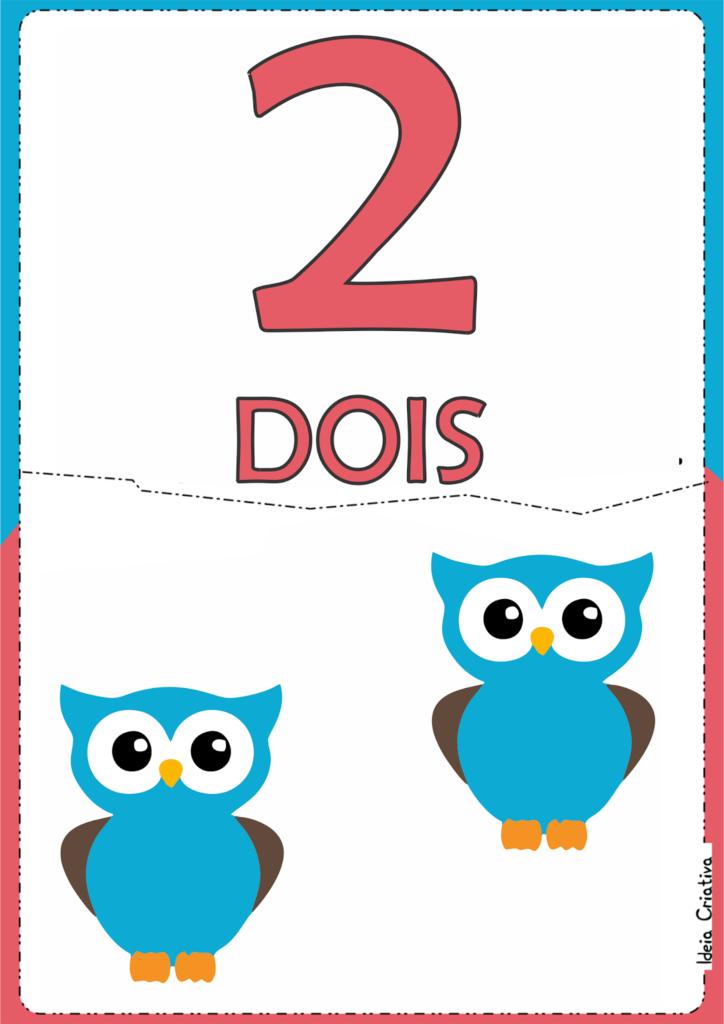 numerais ilustrados para atividade educativa 2