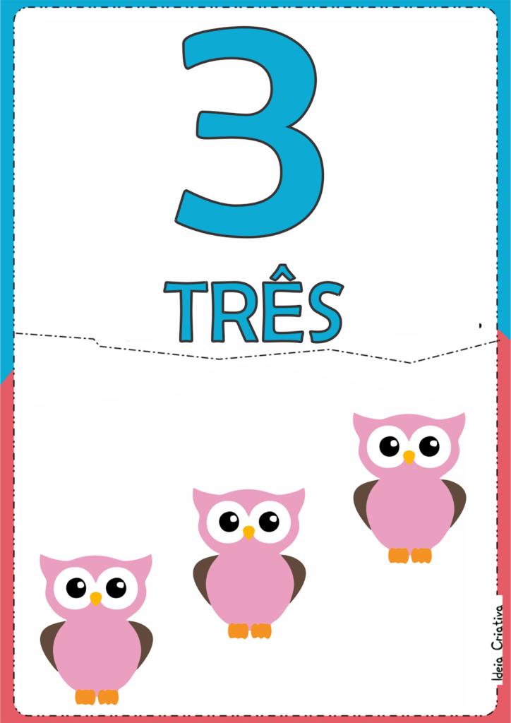 numerais ilustrados para atividade educativa 3