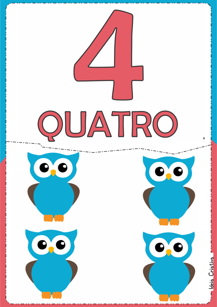 numerais ilustrados para atividade educativa 4