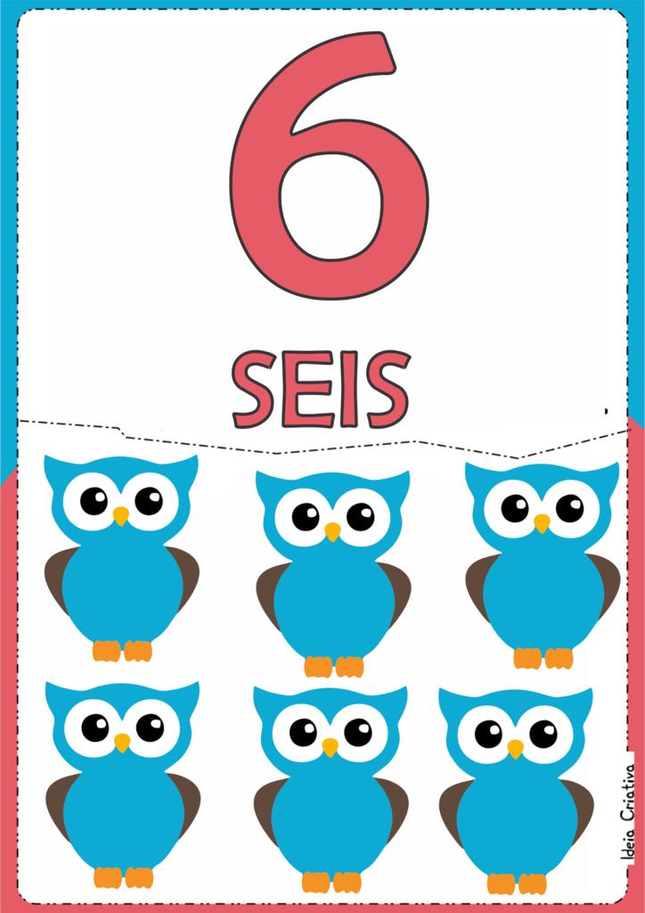 numerais ilustrados para atividade educativa 6