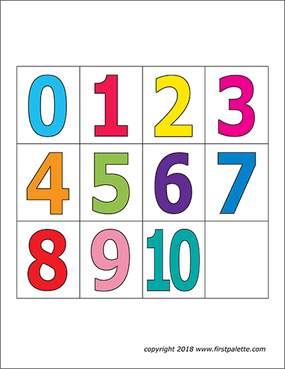 numeros coloridos para imprimir