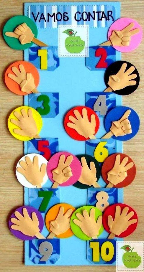 painel números em eva educação infantil