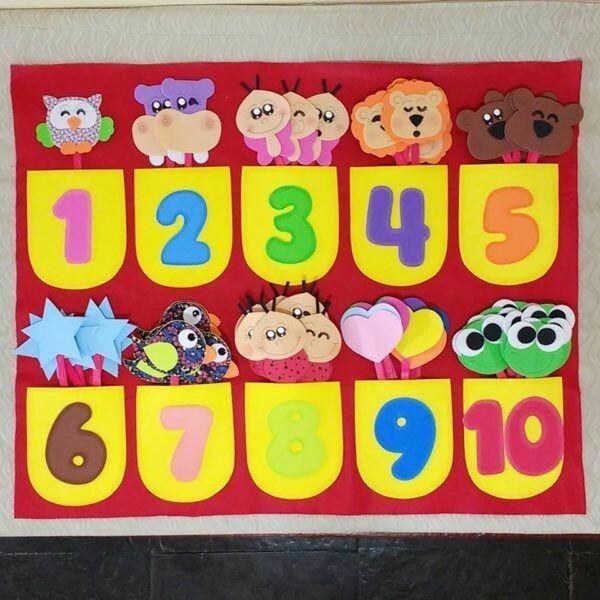 painel numerais em eva para educação infantil