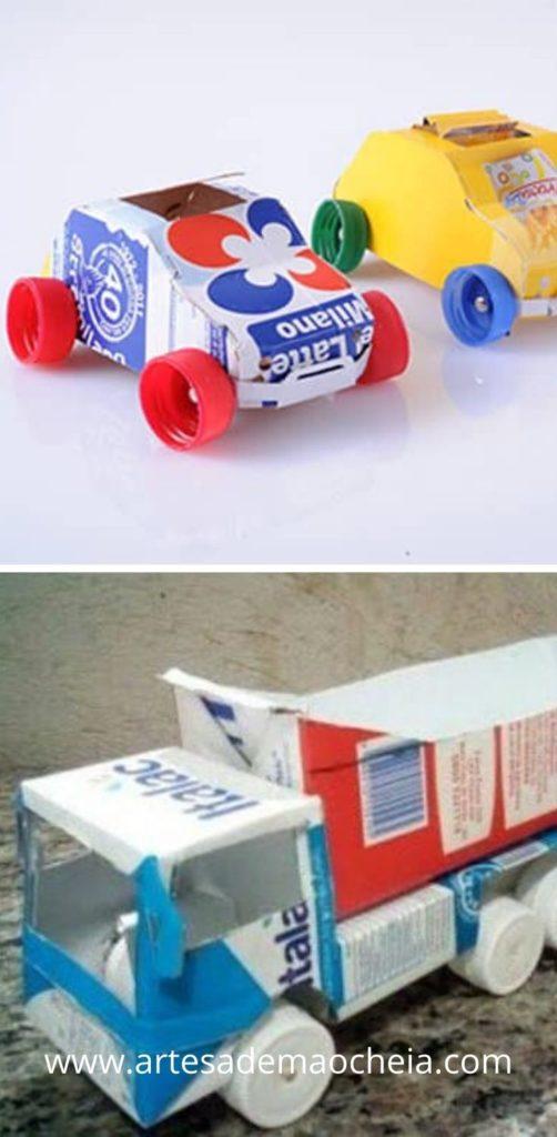 carrinho com caixa de leite