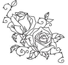 Riscos de Rosas para Pintura em Tecido 1