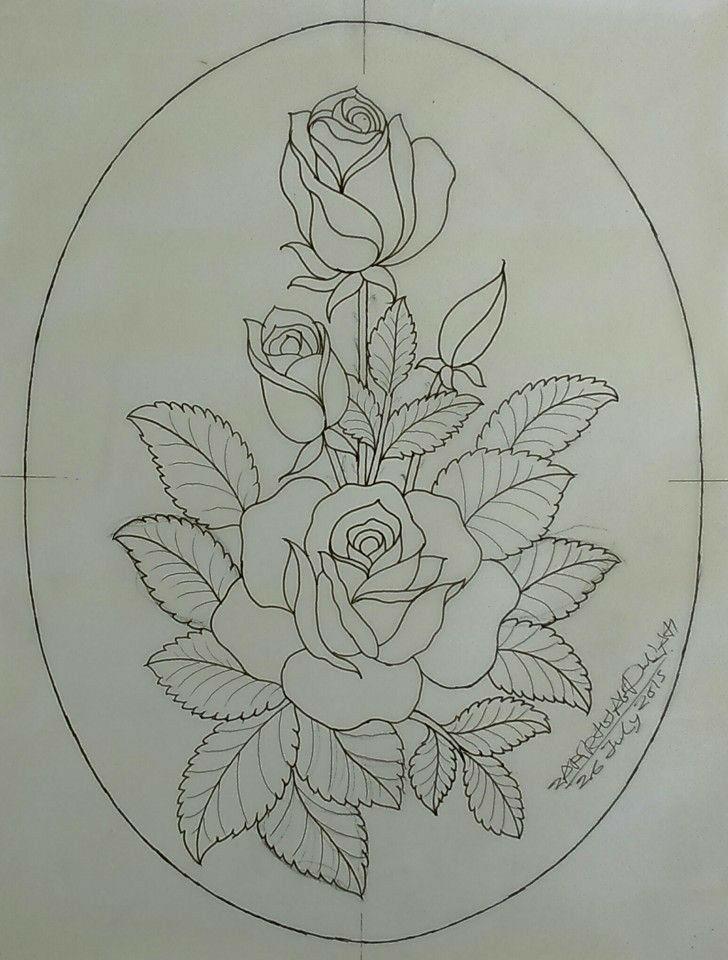 Riscos de Rosas para Pintura em Tecido 2