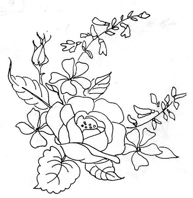Riscos de Rosas para Pintura em Tecido