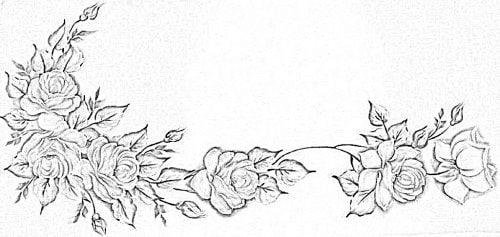 Melhores Riscos Gratis De Rosas Para Pintura Em Tecido Imprima E