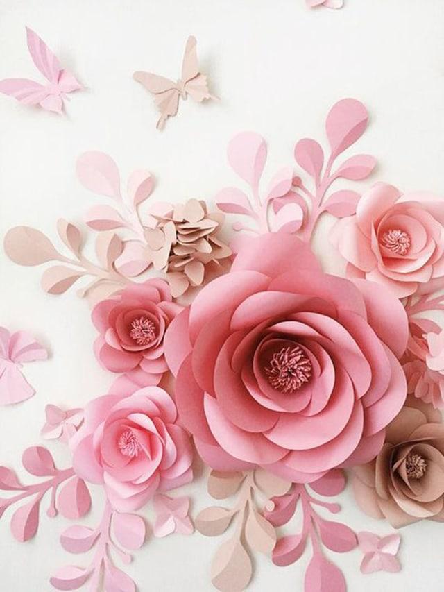 Como Fazer Flor De Papel Sulfite Passo A Passo Com Moldes